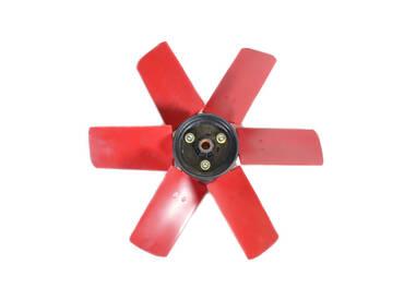 Plastic waaier rood 350 mm
